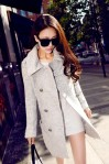 JYW737GRAY – LONG COAT KOREA STYLE – Gray Woolen COAT