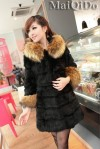 JAKET BULU – Apricot Fur Coat (D1391-9628Black)