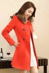 JAKET BULU KOREA – ORANGE MODERN FUR COAT (JYY468-901Orange)