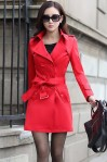 LONG COAT WANITA KOREA – RED TWILL BLAZER (JYW2001Red)