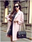 JAKET MUSIM DINGIN KOREA – Pink Long Coat (R69009Pink)