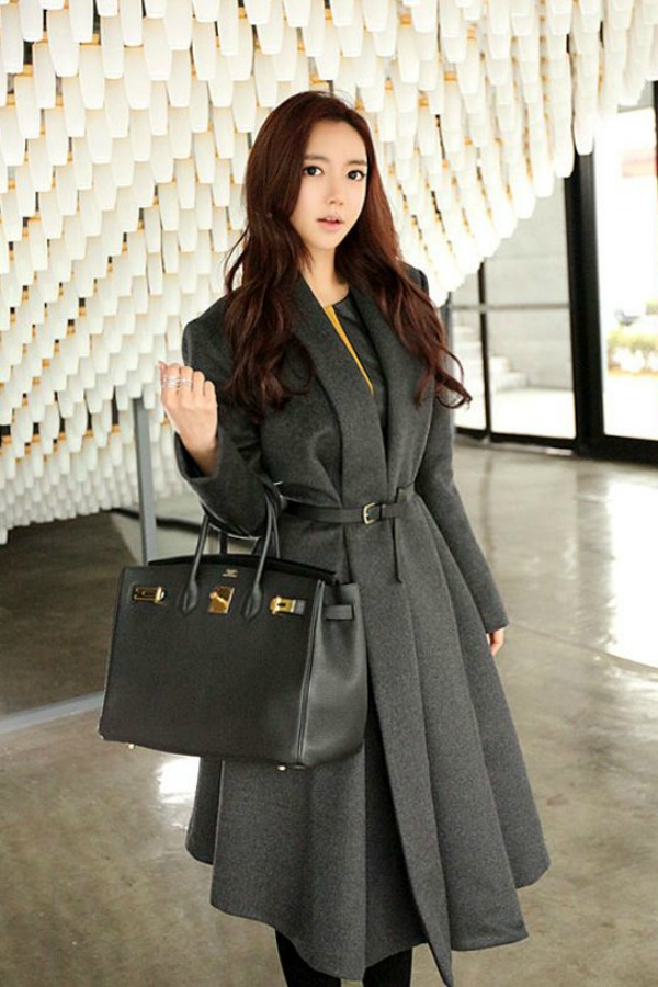 Long Coat Wanita Korea Korean Trendy Coat