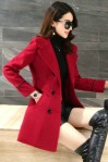 COAT WANITA KOREA – Red Trendy Coat (JYB331735Red)
