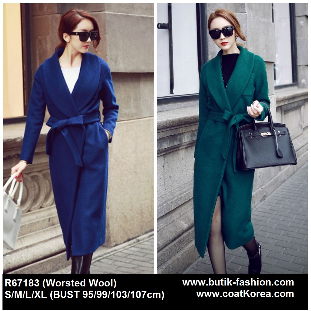 PILIHAN WARNA JAKET WOOL KOREA BIG SIZE - LONG COAT WANITA KOREA