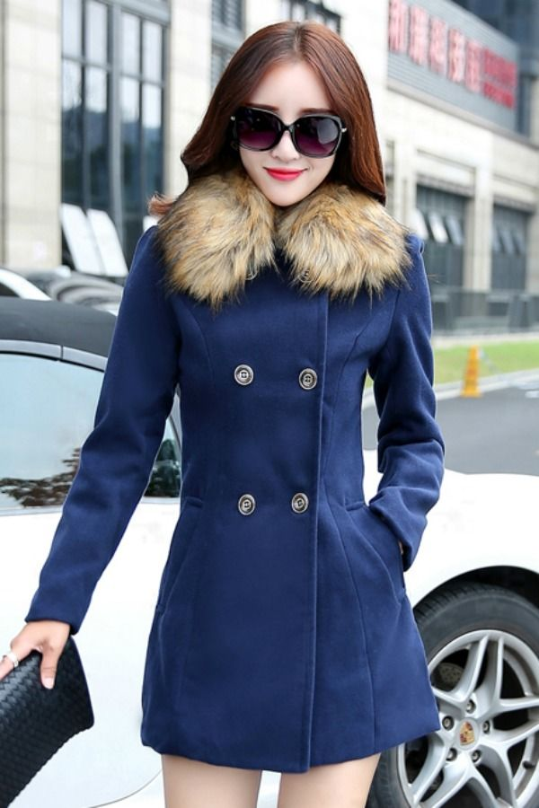 JYY468-901 Navy - COAT IMPORT KOREA BIG SIZE - JAKET MUSIM DINGIN