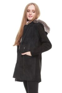 JAKET BULU MUSIM DINGIN Two Toned – Detachable Hooded Coat (JYB170522 )