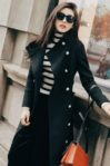 JAKET WINTER WANITA – Black Korean Long Coat (R65160 Black)
